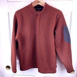 ExOfficio sweater fleece, brick orange, sz L